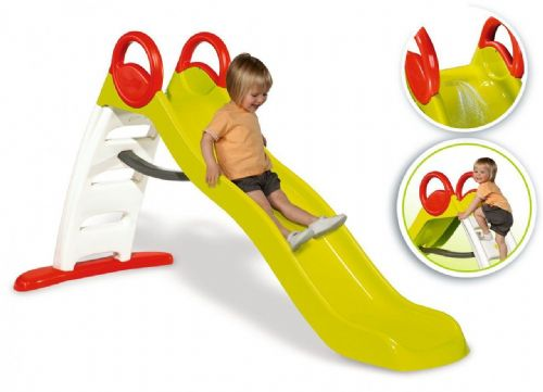 Jumbo water fall green plastic slide